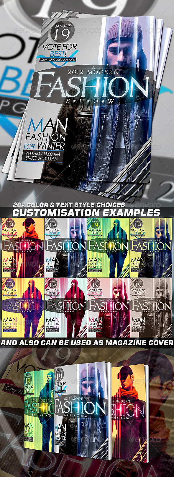 GraphicRiver Fashion Flyer or Magazine Cover Template 543255