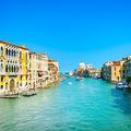 Venice grand canal, Santa Maria della Salute church landmark. Italy