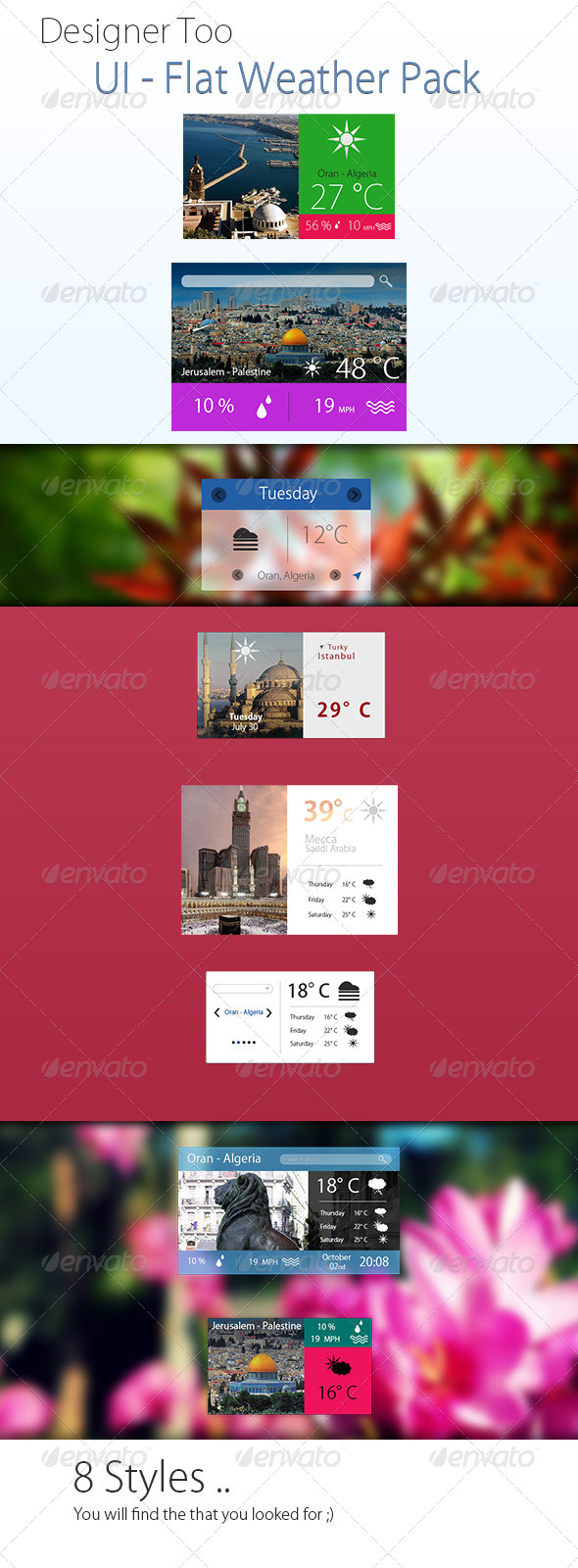 GraphicRiver Flat Weather Ui 5281792