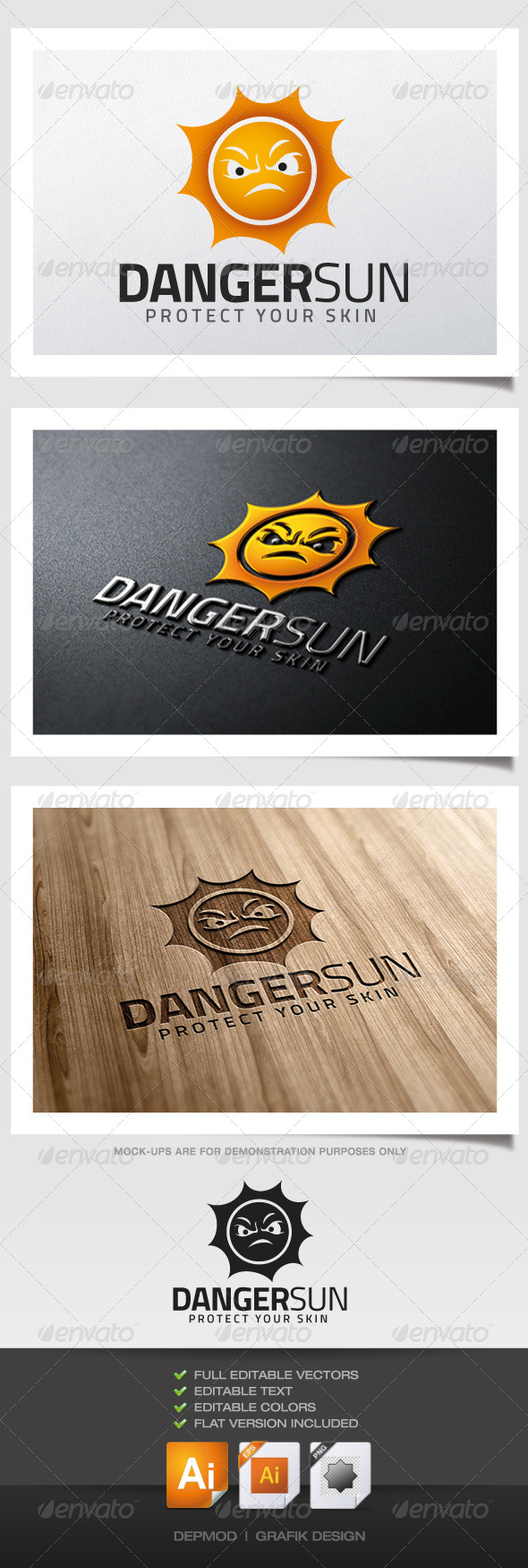 GraphicRiver Danger Sun Logo 5281857
