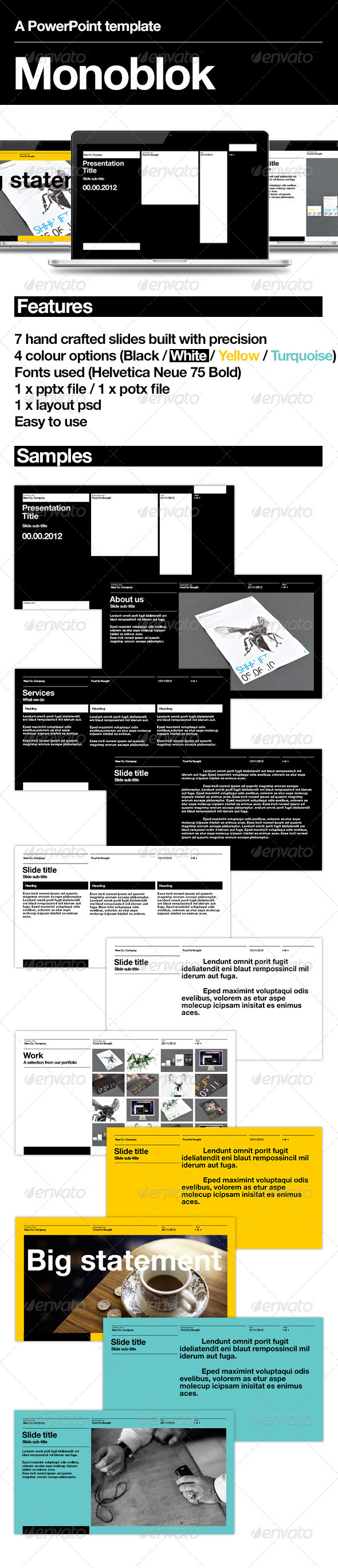 GraphicRiver Monoblok PowerPoint Presentation 3533983