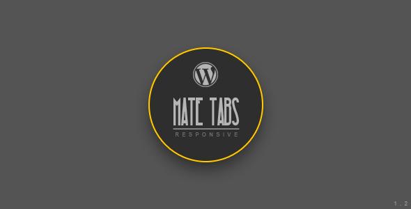 Mate Tabs v1.2 – Codecanyon WordPress Plugin