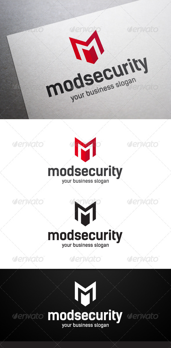 GraphicRiver Mod Security M Letter Logo 5282883