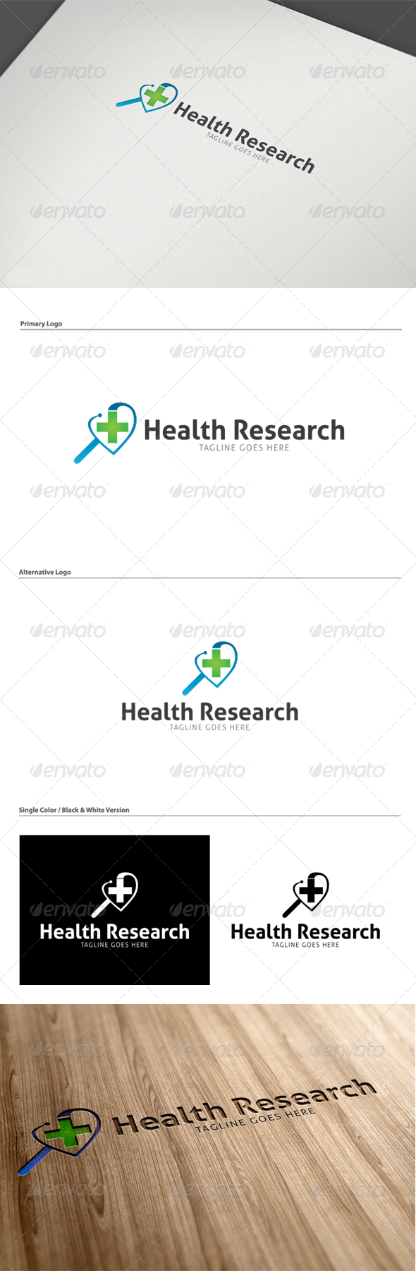 GraphicRiver Health Research Logo Template 5272841