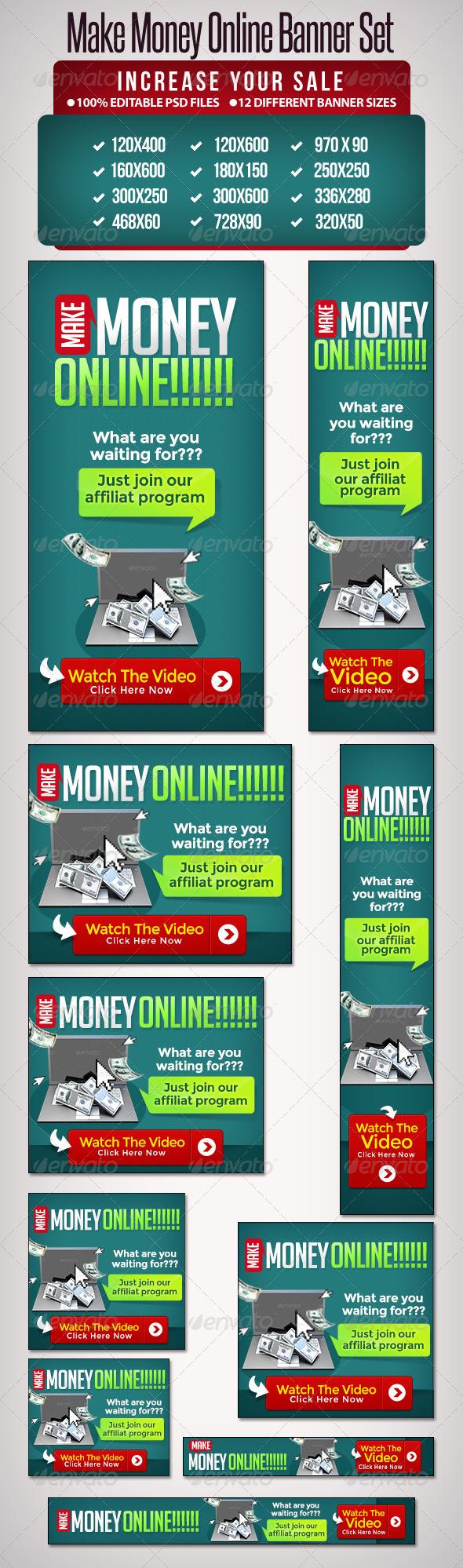 GraphicRiver Make Money Online Banner Set 3 12 Google Sizes 5283119