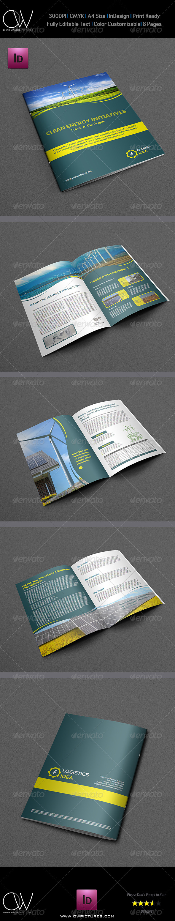 Power Energy Services Brochure Template - 8 Pages - Brochures Print Templates