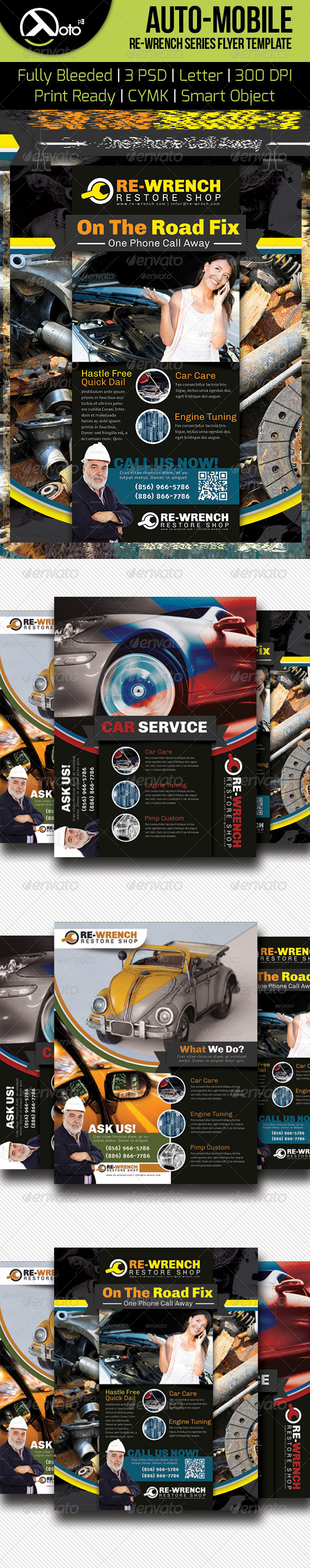 GraphicRiver Auto-Mobile Flyers 5283132