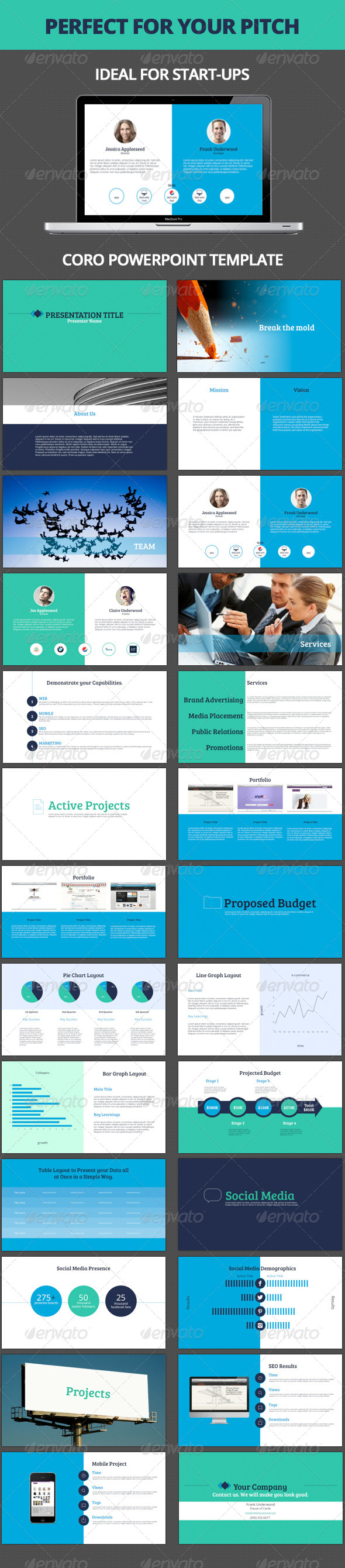 GraphicRiver Coro Powerpoint Template 5283203