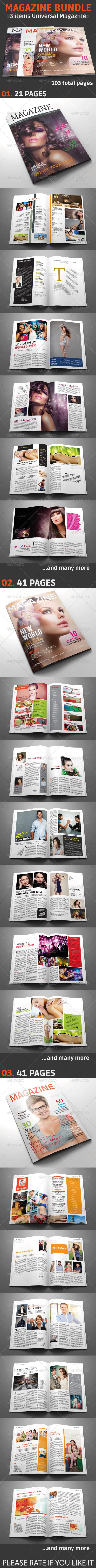 GraphicRiver Magazine Bundle Vol.01 5283869