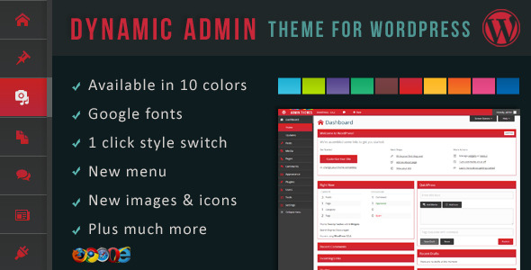 Dynamic Admin Theme for WordPress (Interface Elements) images