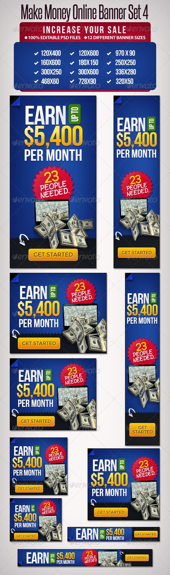GraphicRiver Make Money Online Set 4 12 Google Sizes 5284805
