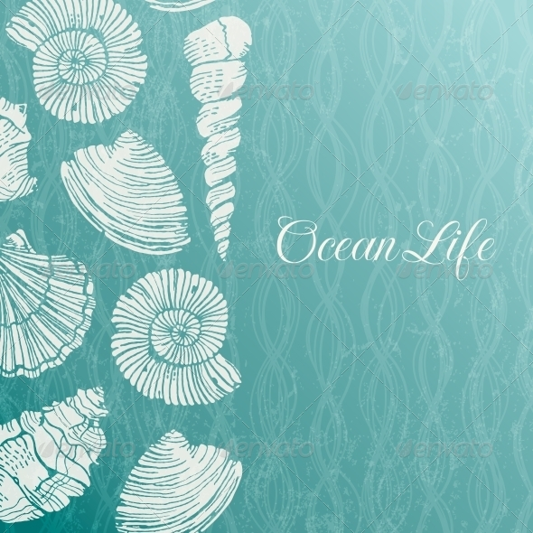 GraphicRiver Background with Sea Shells 5284919