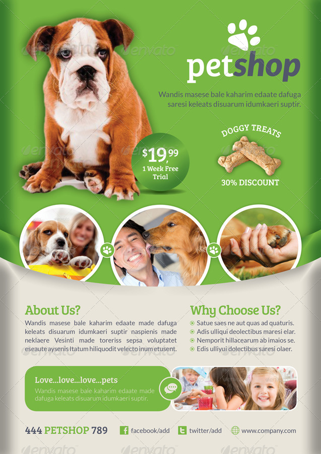 Pet Shop Flyer Template - GraphicRiver Previewer