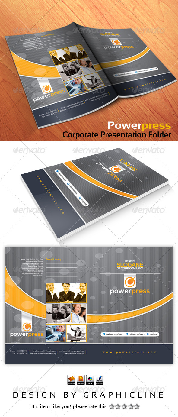 GraphicRiver Powerpress Corporate Presentation Folder 5285031