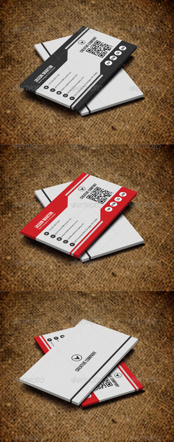 GraphicRiver Simple Corporate Business Card v2 5285338