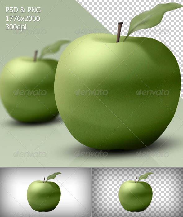 GraphicRiver Green Apple 5285428