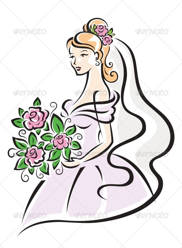 GraphicRiver Bride with Flowers 5285442