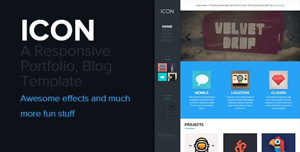 Icon - Responsive Blog and Portfolio Template