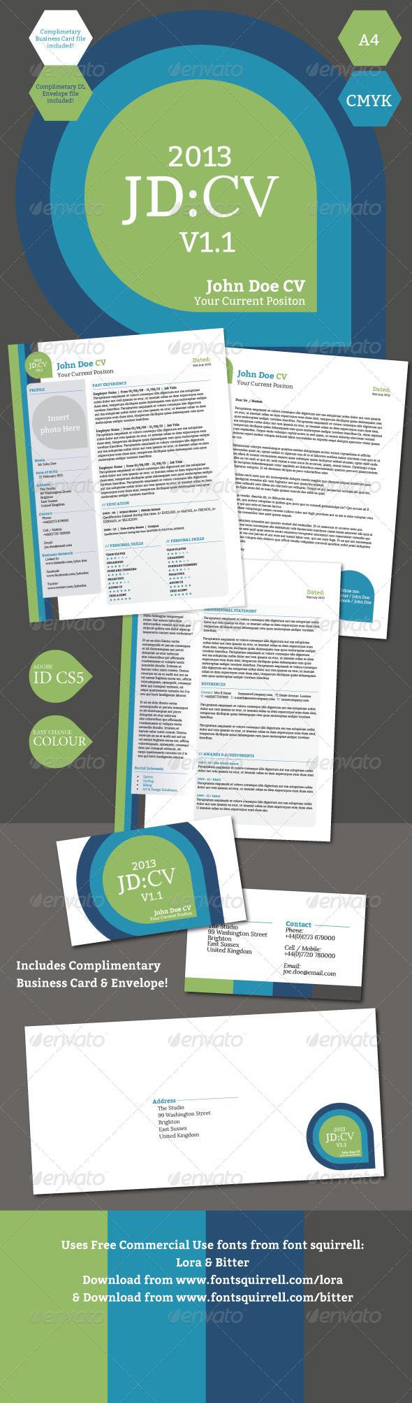 GraphicRiver Professional CV Resume 5228817