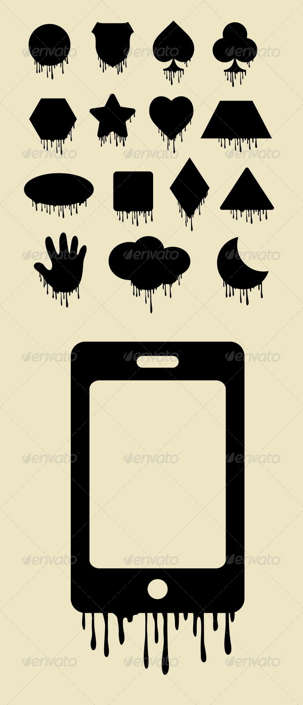 GraphicRiver Melt Objects Silhouettes 5285626