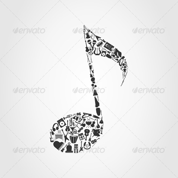 GraphicRiver Musical note 543987