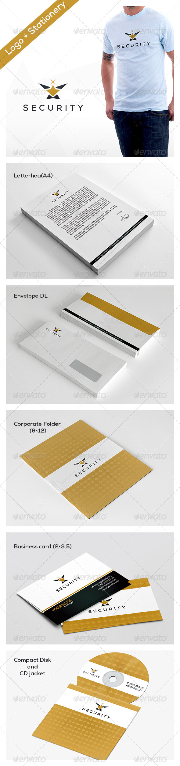 GraphicRiver Security Stationery 5285838