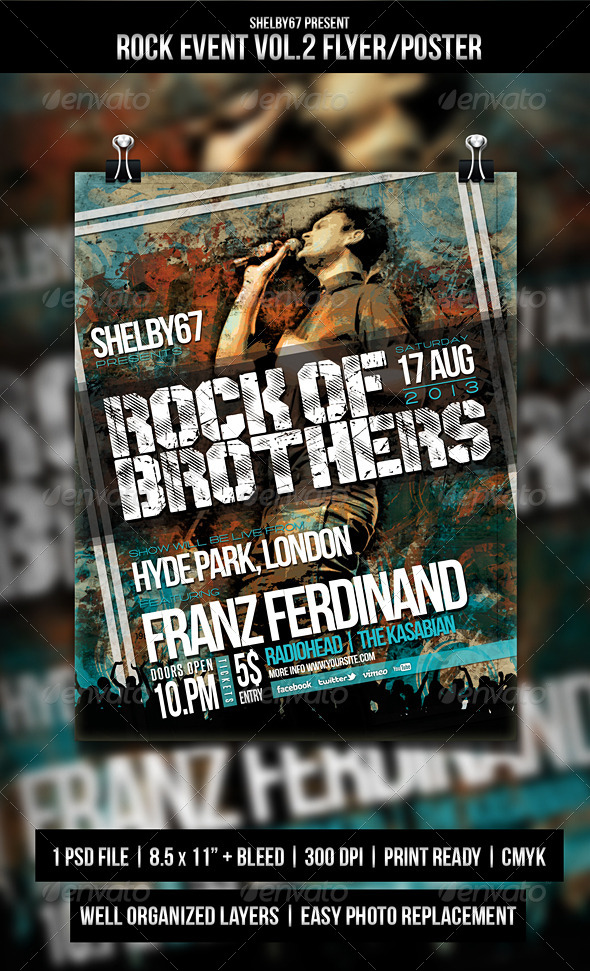 GraphicRiver Rock Event Flyer Poster Vol.2 5285859