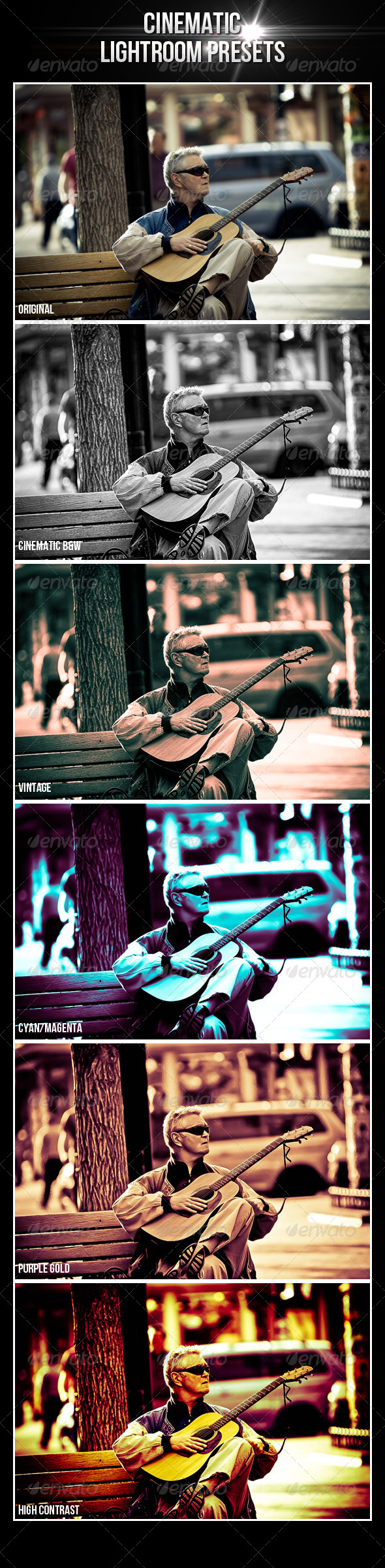 GraphicRiver Cinematic Lightroom Presets 5285939