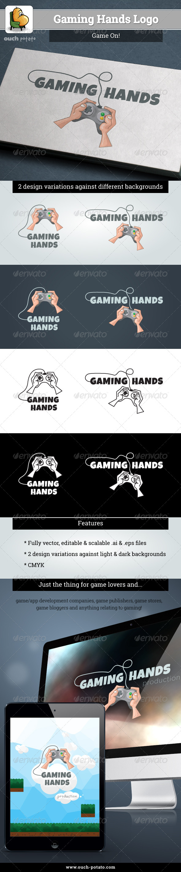 GraphicRiver Gaming Hands Logo 5272760