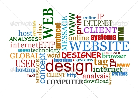 Web and Internet Design Tags Cloud - Web Technology
