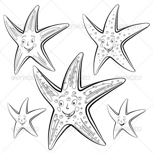 GraphicRiver Starfish Cartoon 5286122