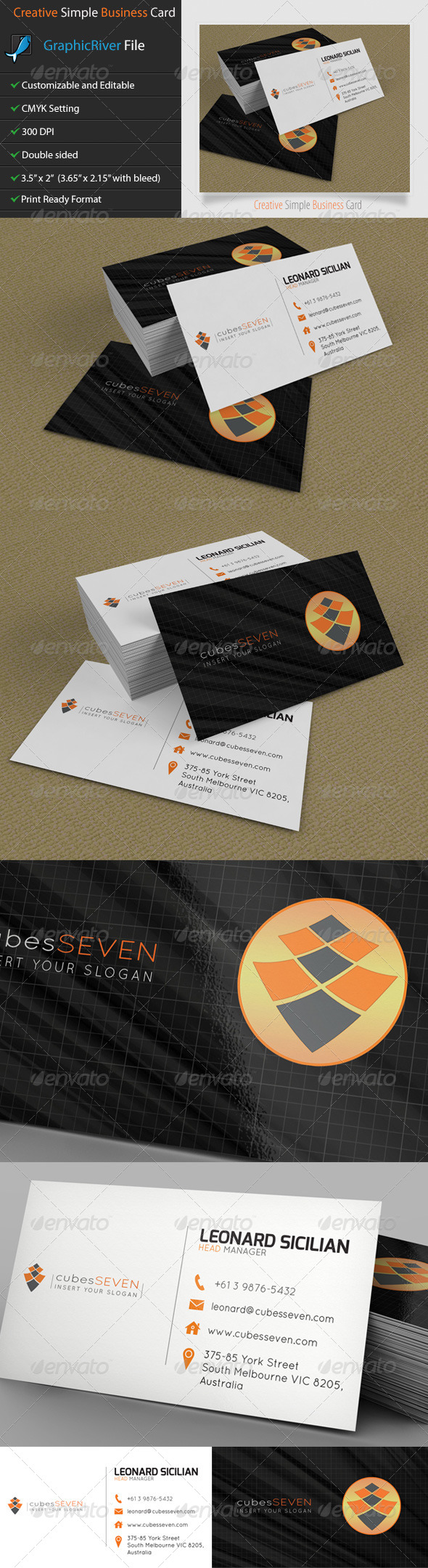 GraphicRiver Creative Business Card Cubes Seven 5286287