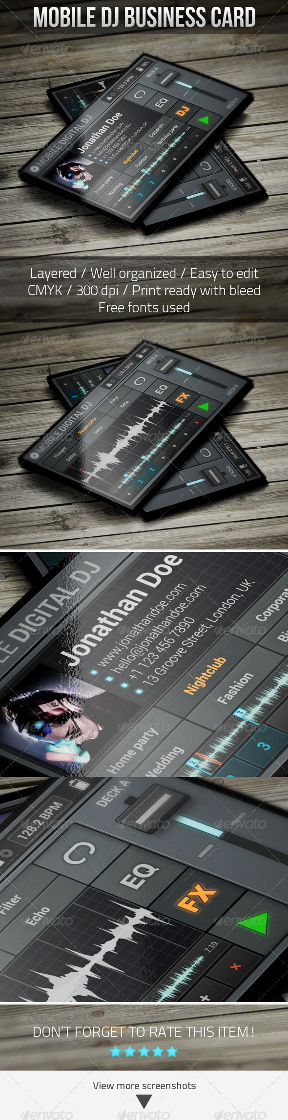 GraphicRiver Mobile Digital DJ Business Card 5286301