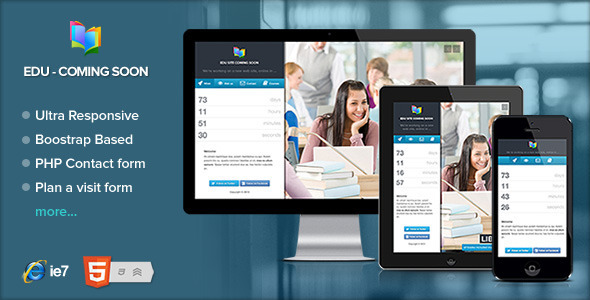ThemeForest EDU Educational Courses coming soon page 5286305