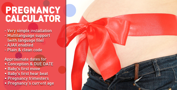 CodeCanyon Pregnancy Calculator 5286554