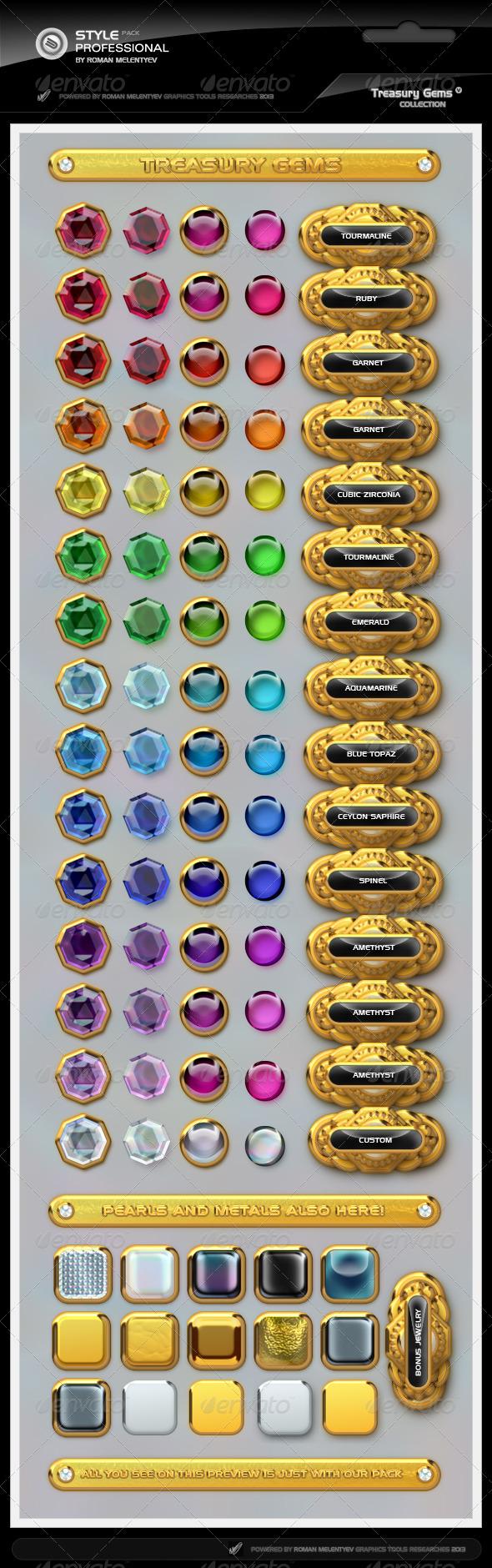 GraphicRiver Treasure Gems Styles Pro 5286762