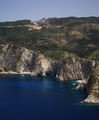 Rocky coastline of Kefalonia
