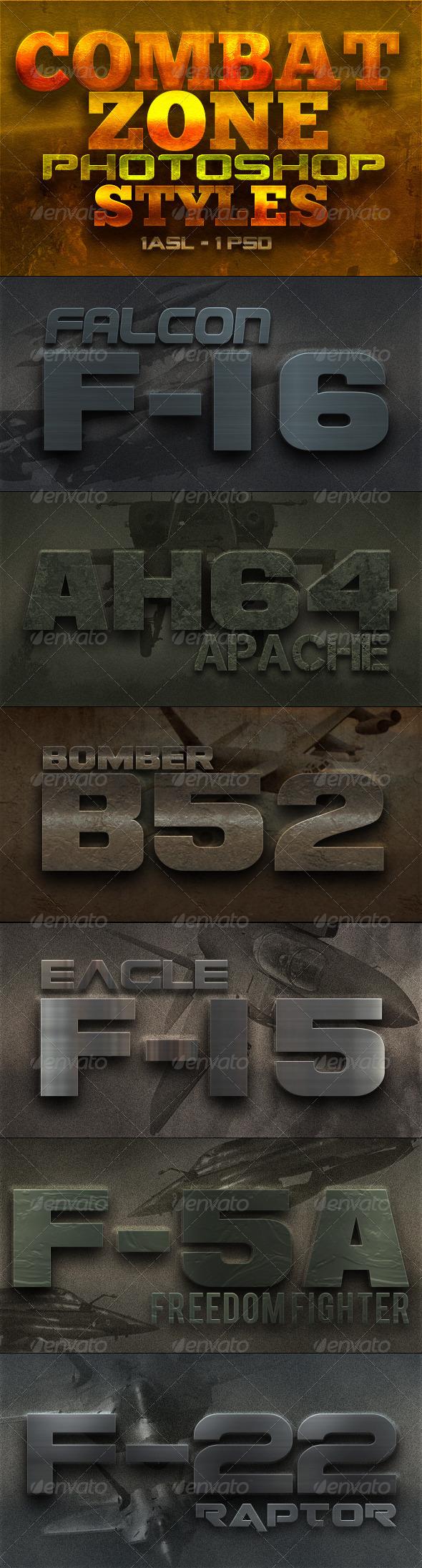 GraphicRiver Combat Zone Styles 5286998