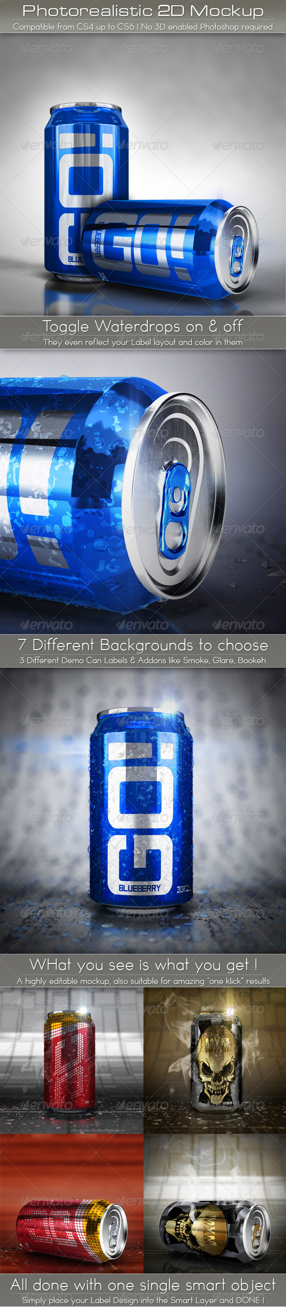 GraphicRiver Photorealistic Soda Can Mockup 5287177