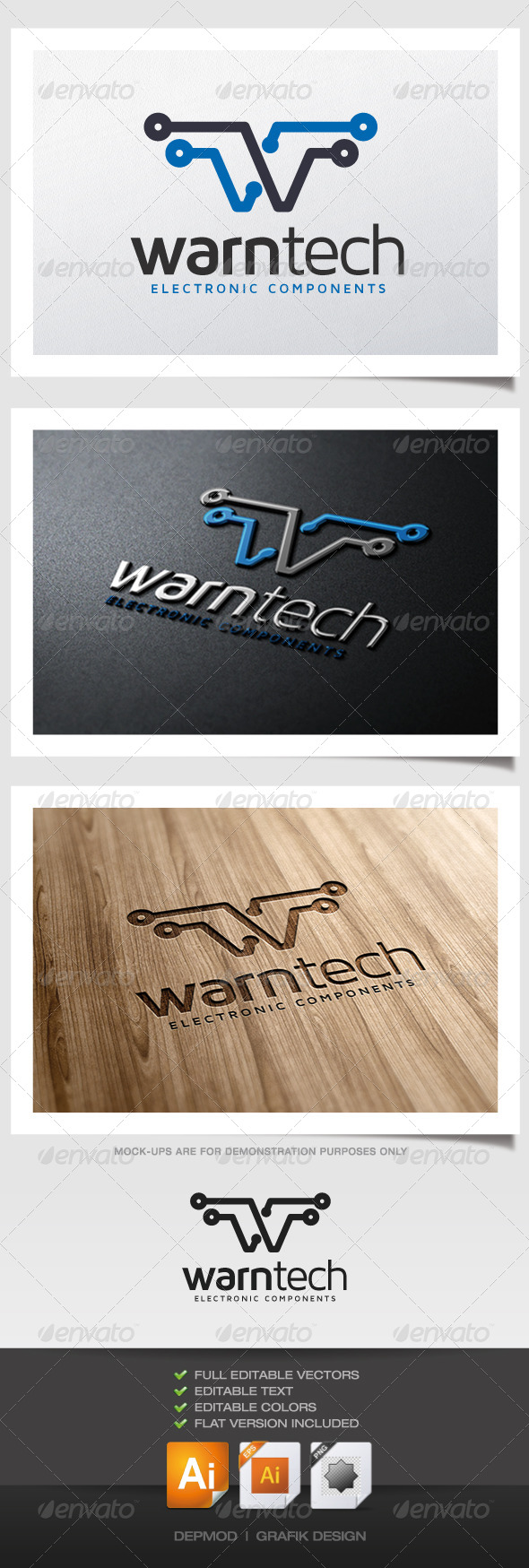 GraphicRiver Warn Tech Logo 5287204