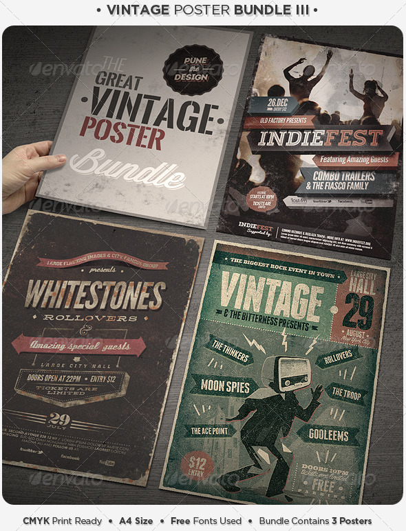 GraphicRiver Vintage Poster Bundle III 5287304