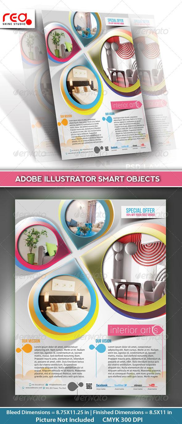 GraphicRiver Architecture & Interior Decorator Flyer Template 5287442