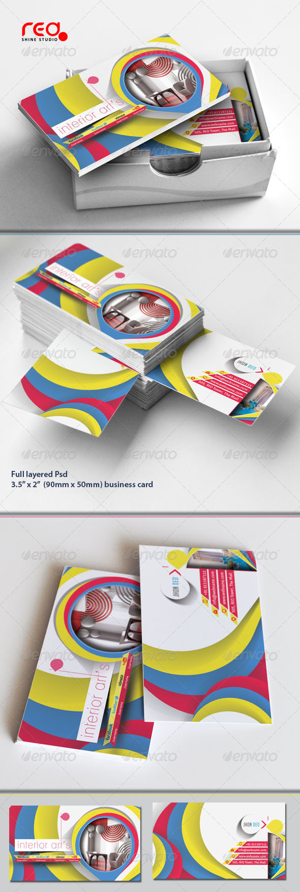 GraphicRiver Architecture & Interior Designer Business Card Set 5287491