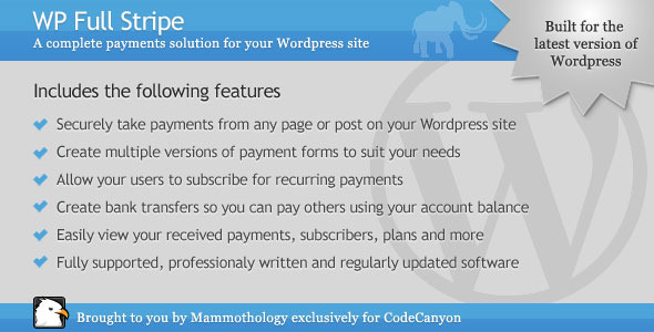 CodeCanyon WP Full Stripe 5266365