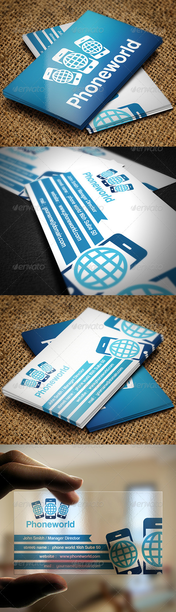 GraphicRiver Phone World Business Card 5287692