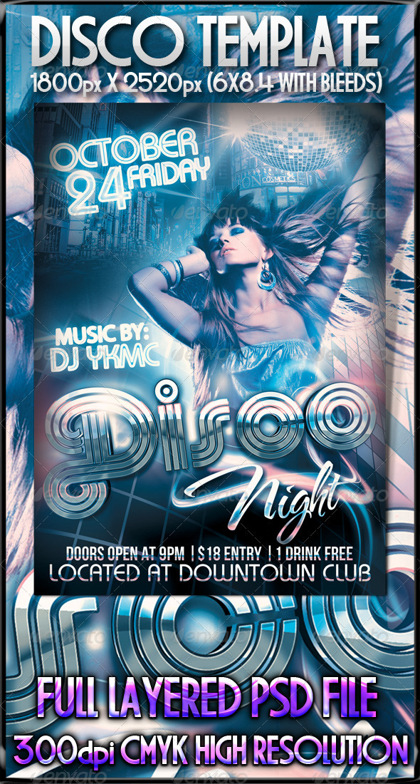 GraphicRiver Disco Night Flyer 544367