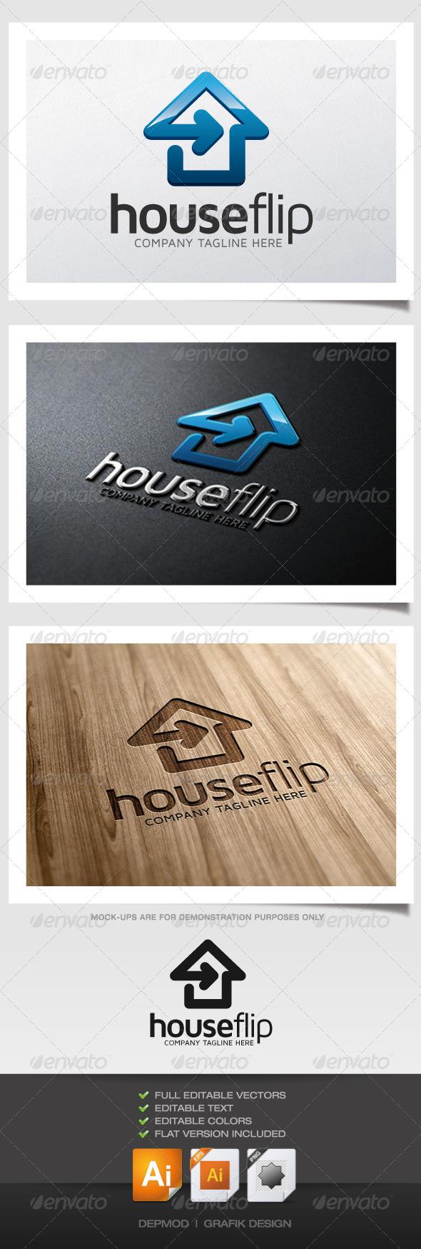 GraphicRiver House Flip Logo 5287724