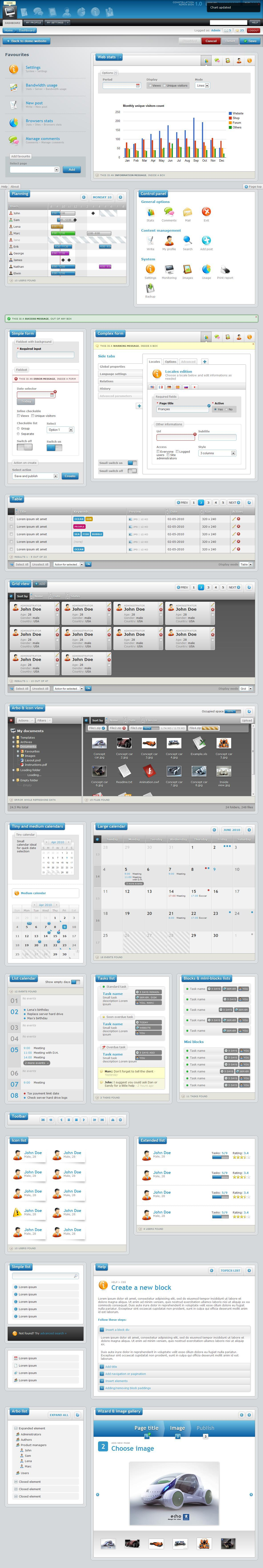 Constellation complete admin skin - Full template style preview