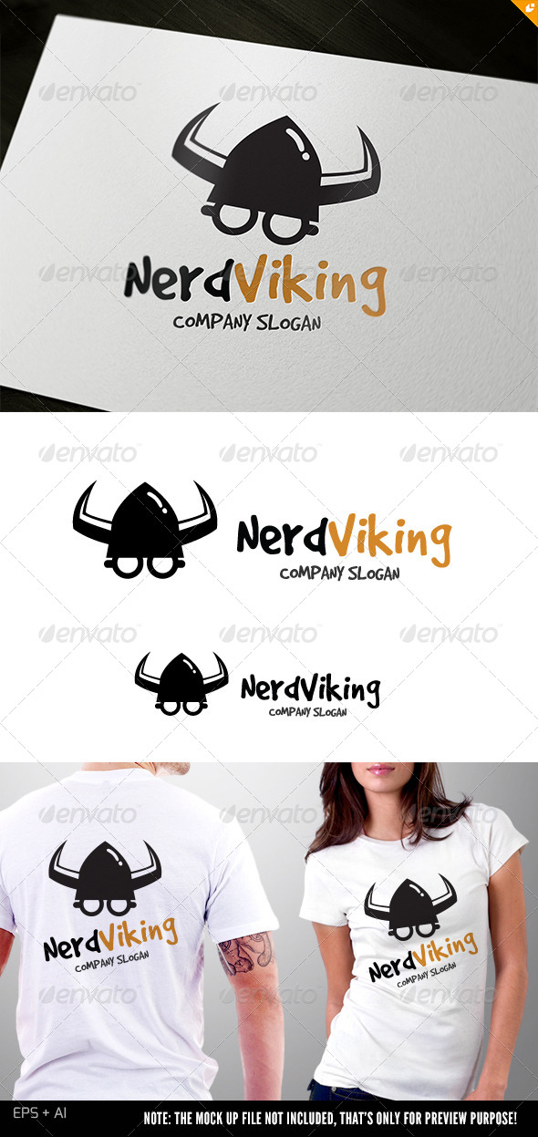GraphicRiver Nerd Viking 5287902