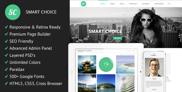 SmartChoice is an advanced Multi-Purpouse Theme. We are sure it will suits your needs. With SmartChoice you can achive almost any layout you like. Easy to setu